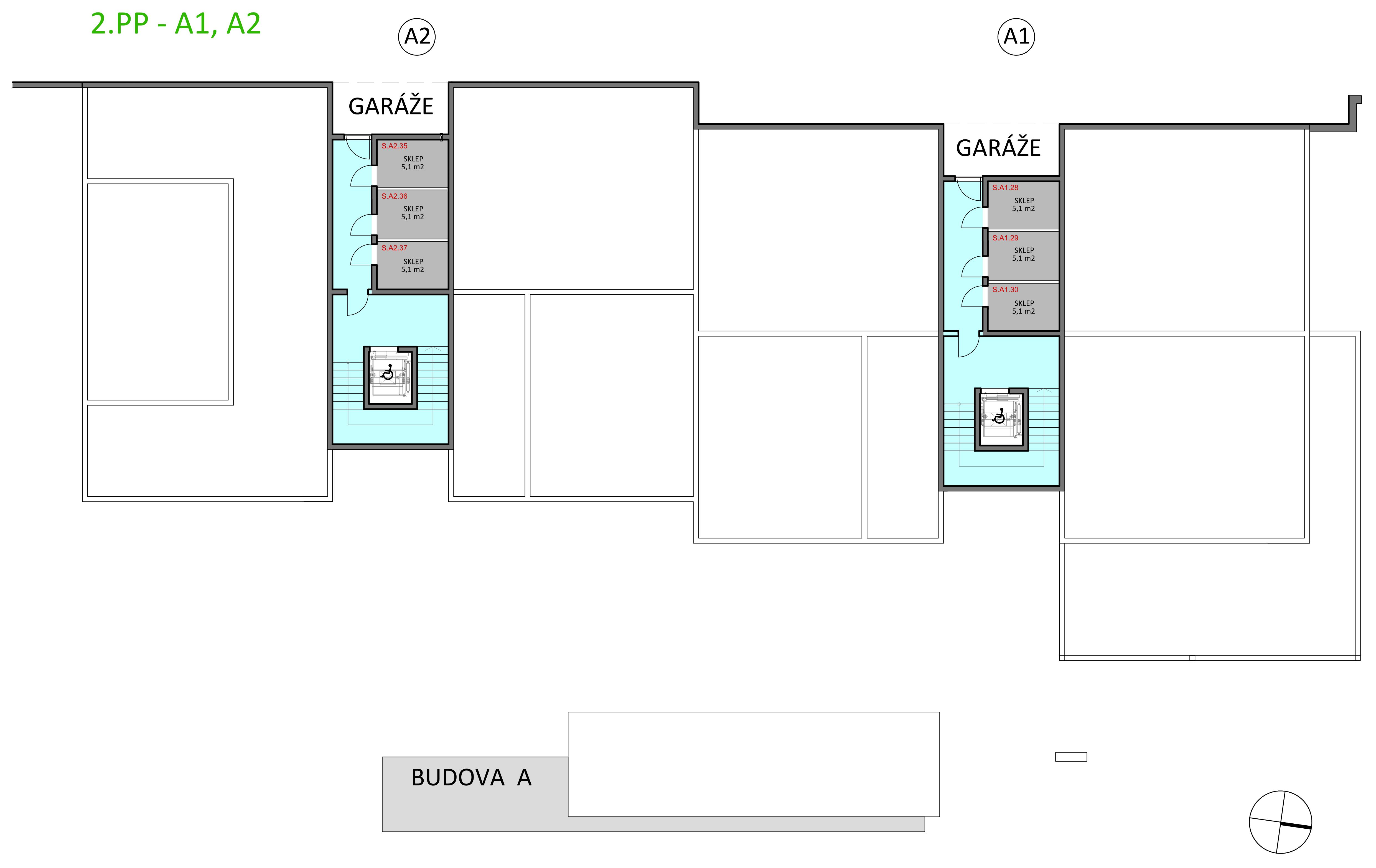 dům A - sklepy (2.PP)